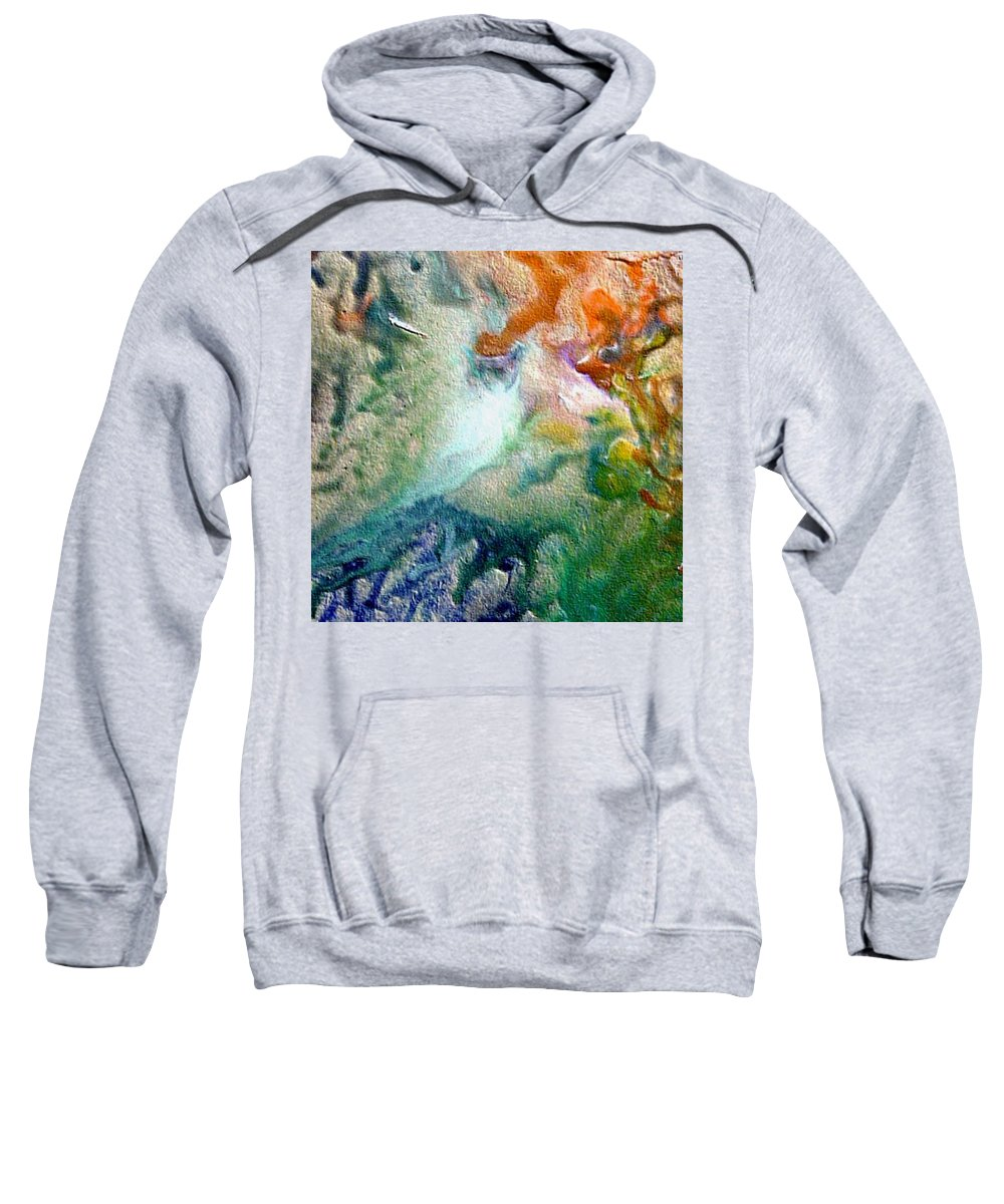 Encaustic Painting Sweatshirt featuring the painting W 023 by Dragica Micki Fortuna