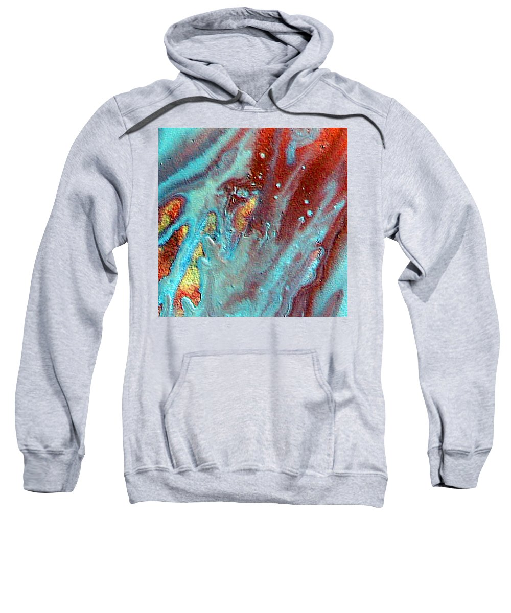 Melting Point Sweatshirt featuring the painting W 039 by Dragica Micki Fortuna