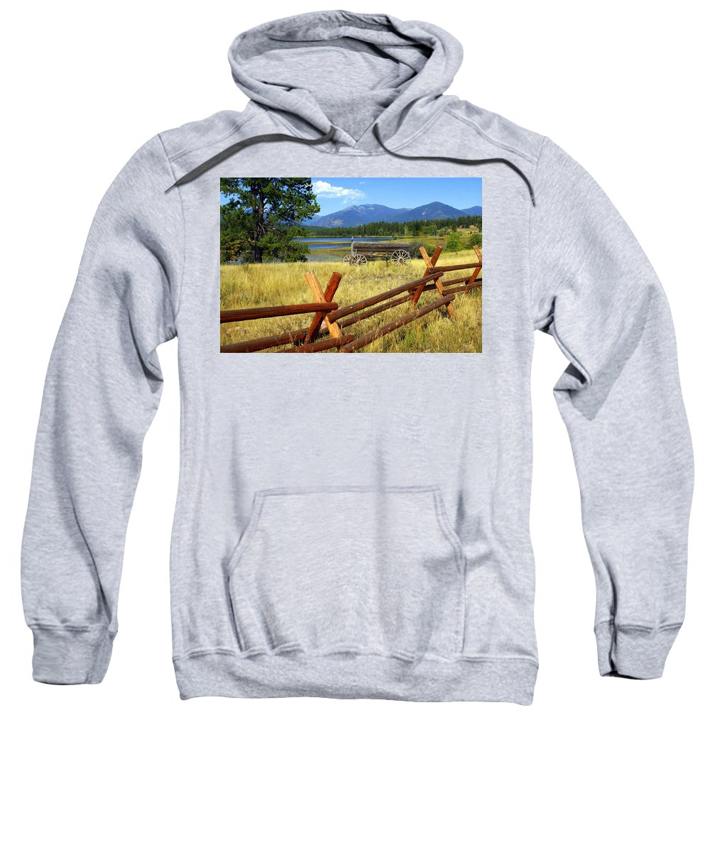 Landscape Sweatshirt featuring the photograph Wagon West by Marty Koch