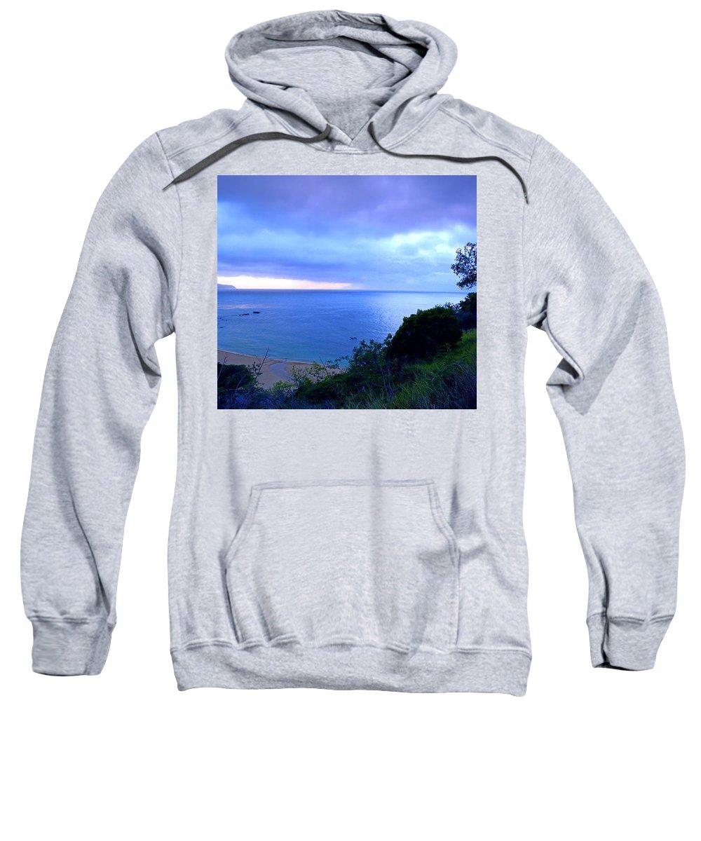 Bay Sweatshirt featuring the photograph Waimea Bay Evening by Kevin Smith