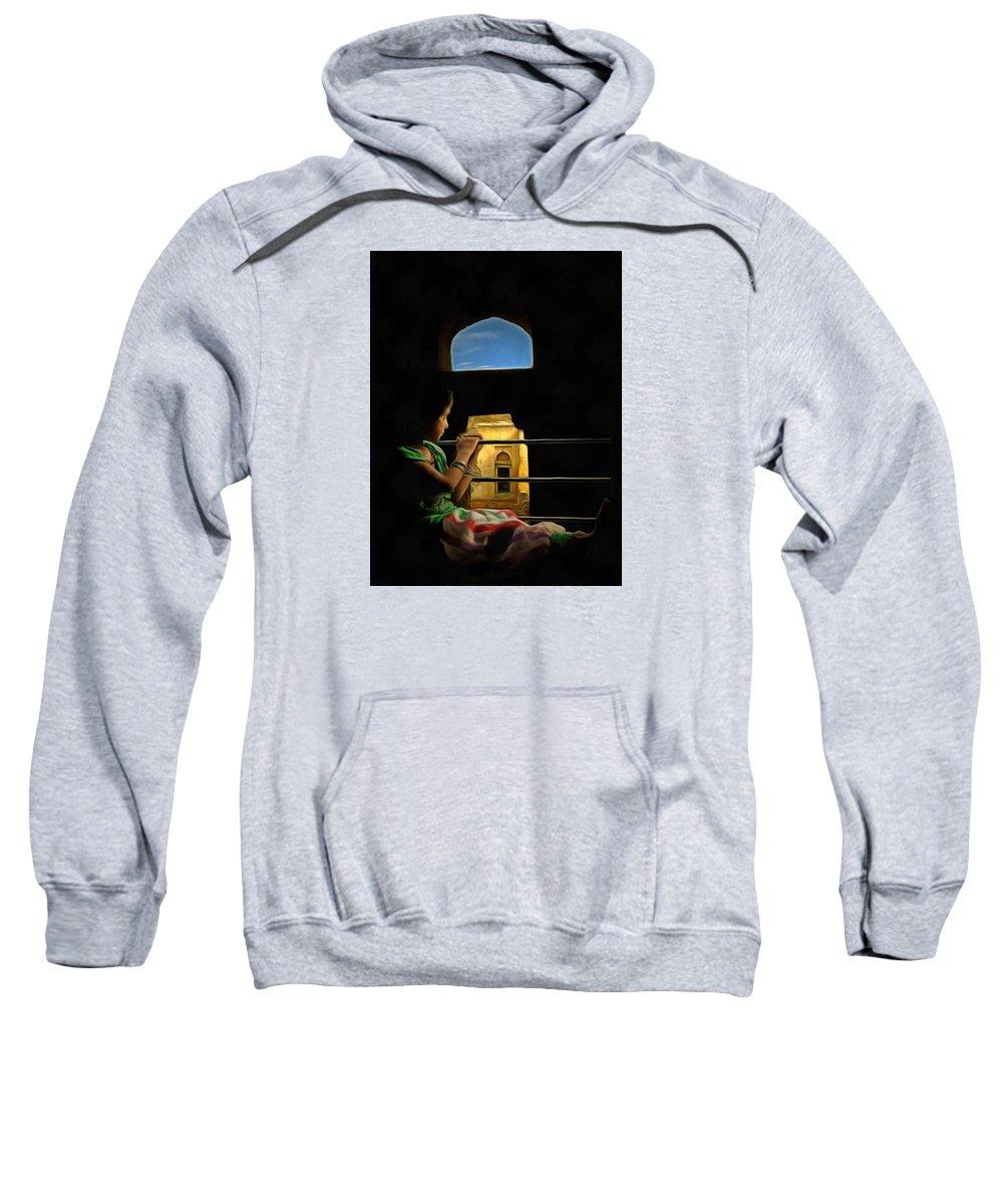 Child Sweatshirt featuring the digital art Wait by Bliss Of Art