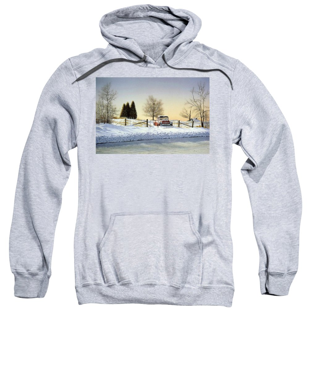 Landscape Sweatshirt featuring the painting Waiting For Spring by Conrad Mieschke