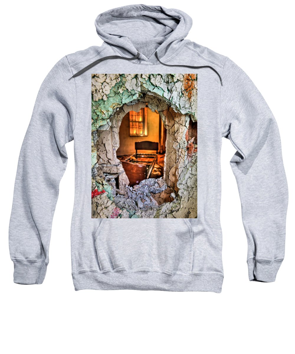 Bed Sweatshirt featuring the photograph Wake Up And Smell The Misery by Evelina Kremsdorf