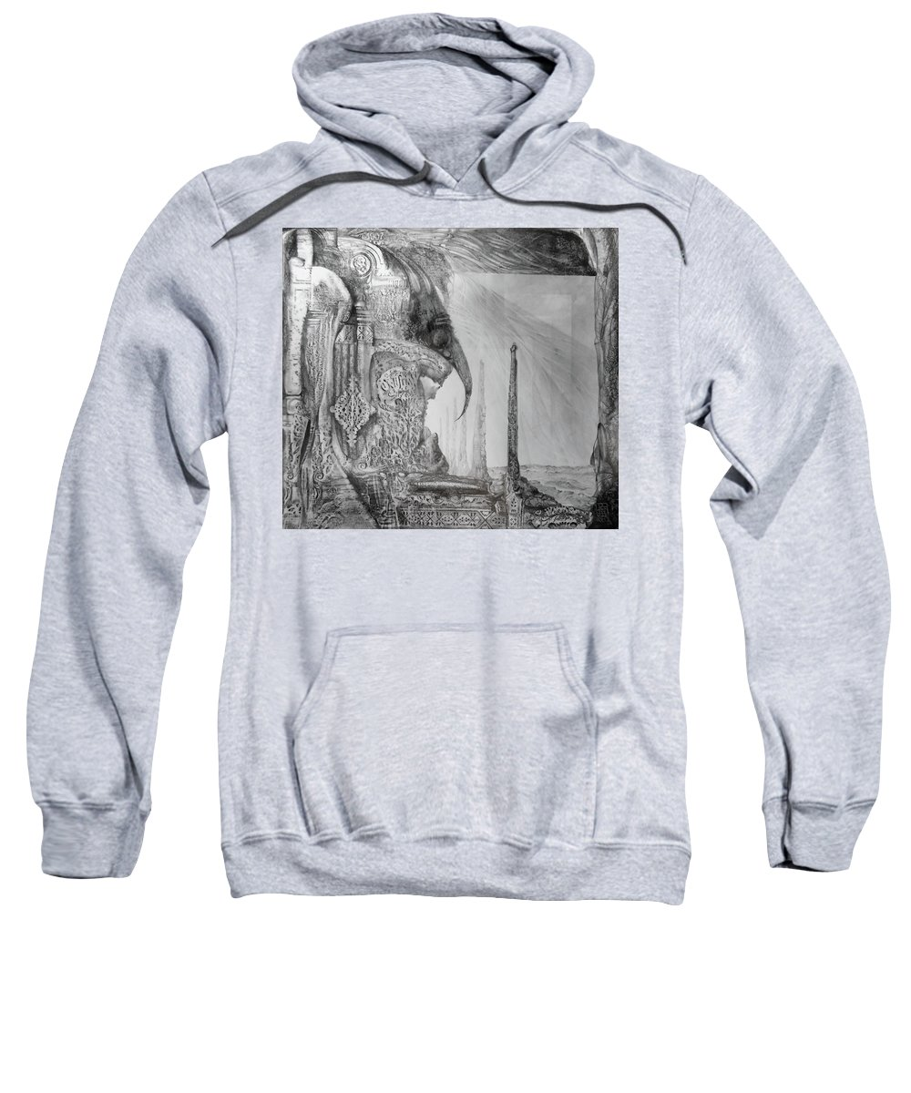 Otto Rapp Sweatshirt featuring the drawing Waldrapp's Tomb by Otto Rapp