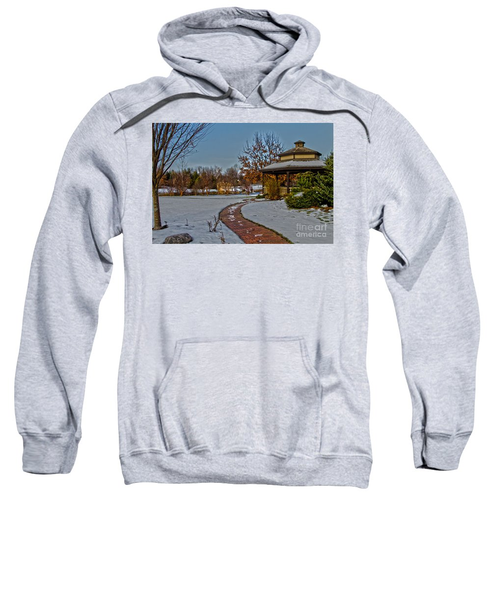 Gazebo Sweatshirt featuring the photograph Walk In The Park by William Norton