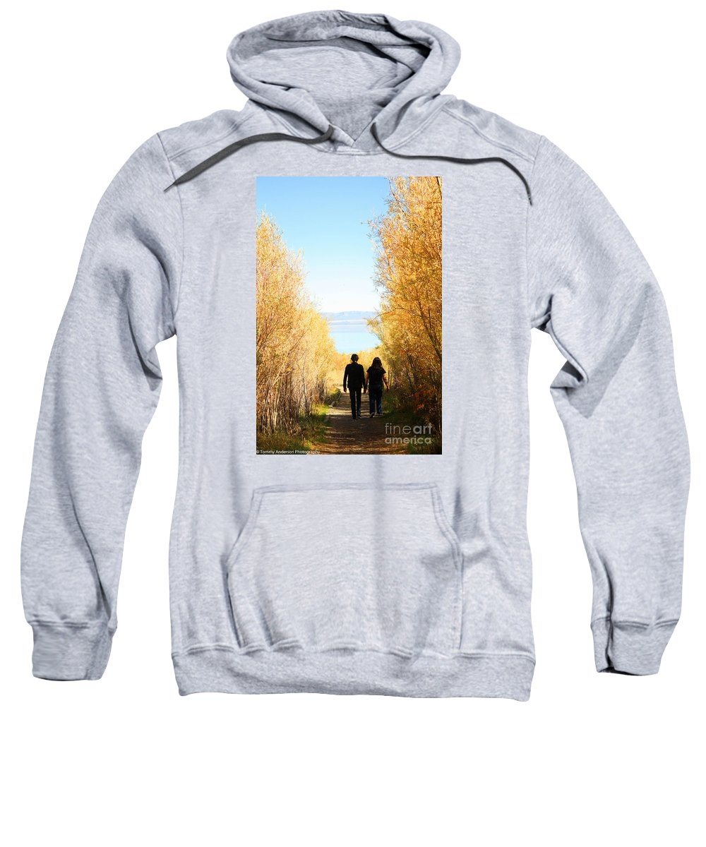Lake Sweatshirt featuring the photograph Walk To Mono Lake by Tommy Anderson