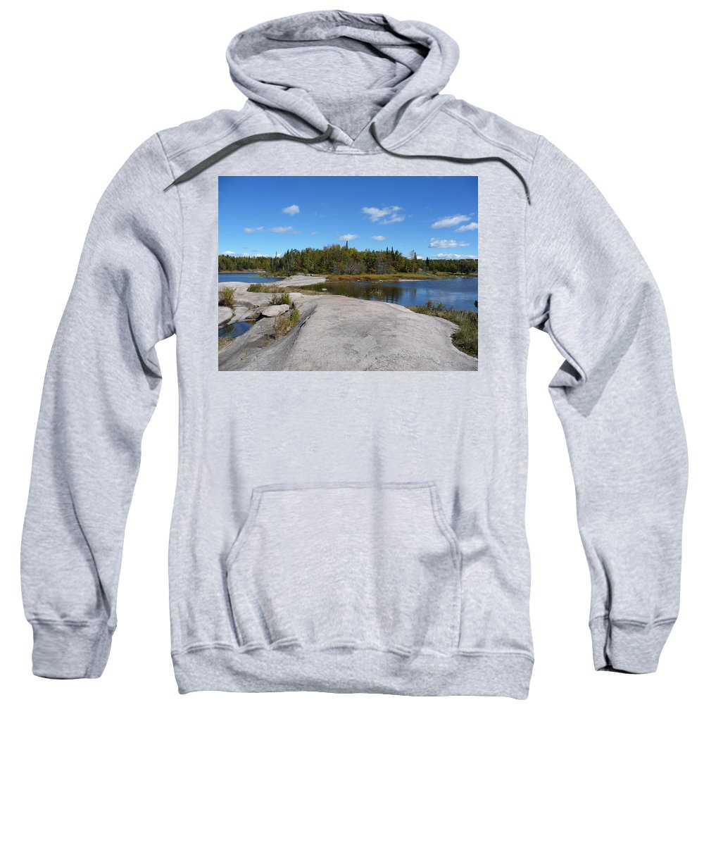 Rocks Sweatshirt featuring the photograph Walking On The Whale's Back by Ruth Kamenev