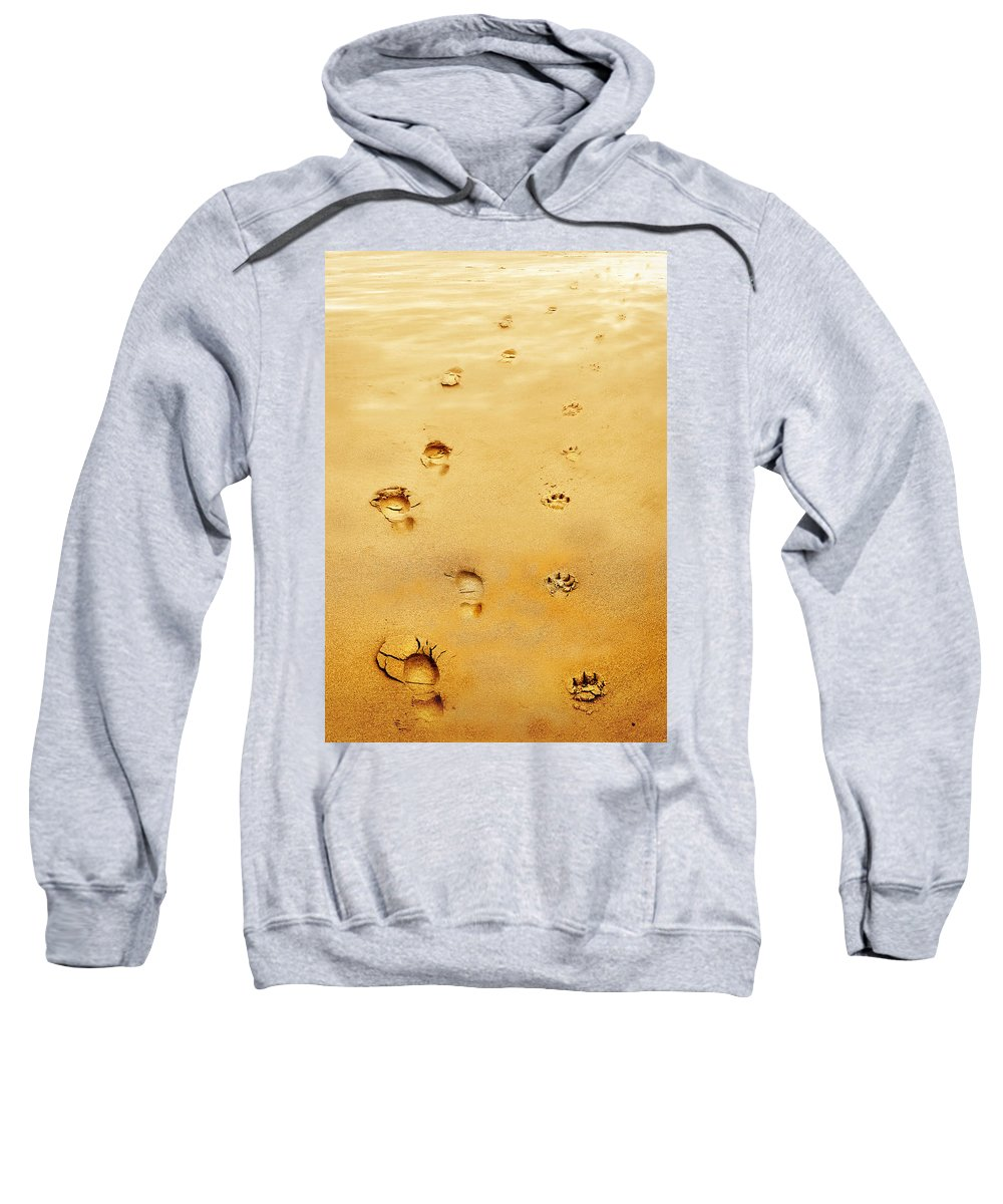 Walking The Dog Sweatshirt featuring the photograph Walking The Dog by Mal Bray