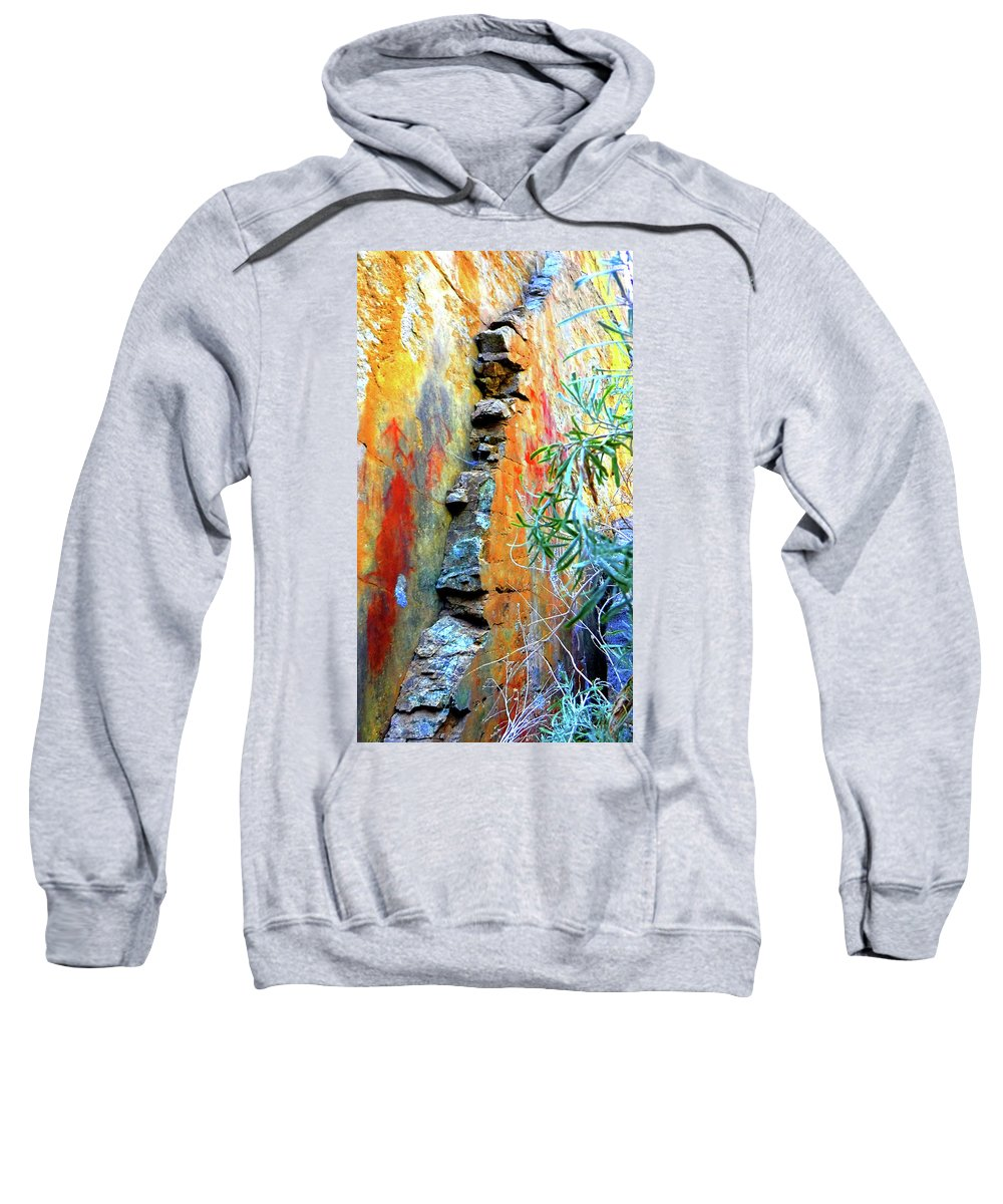 Nature Photography Sweatshirt featuring the photograph Wall On The Salmon by Chris Brock