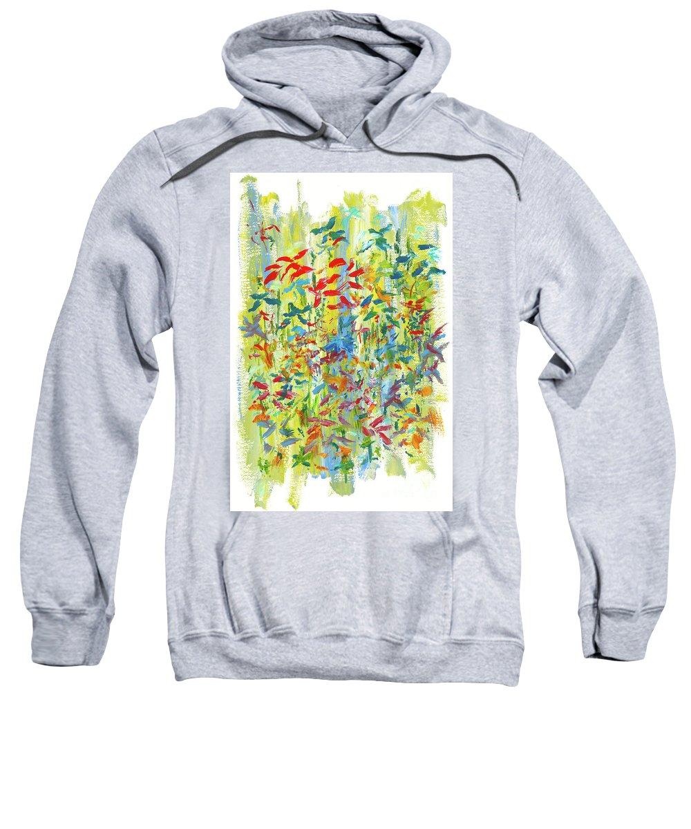 Flowers Sweatshirt featuring the painting Wallflowers by Bjorn Sjogren