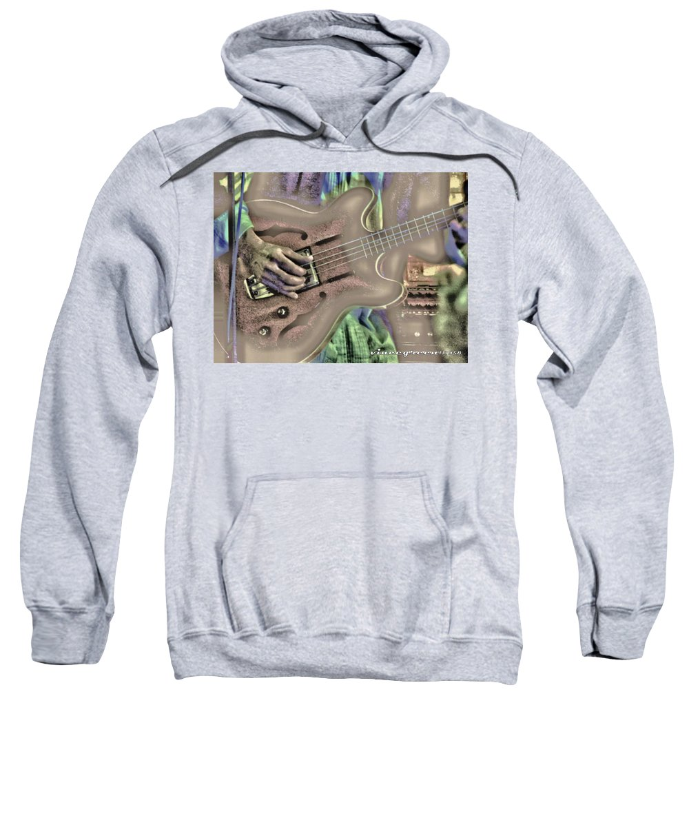 Music Sweatshirt featuring the digital art Walter Parks Plays - Study #2 by Vincent Green