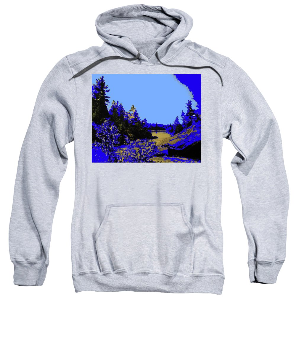 Northern Sweatshirt featuring the photograph Wanapitae River Morning by Ian MacDonald