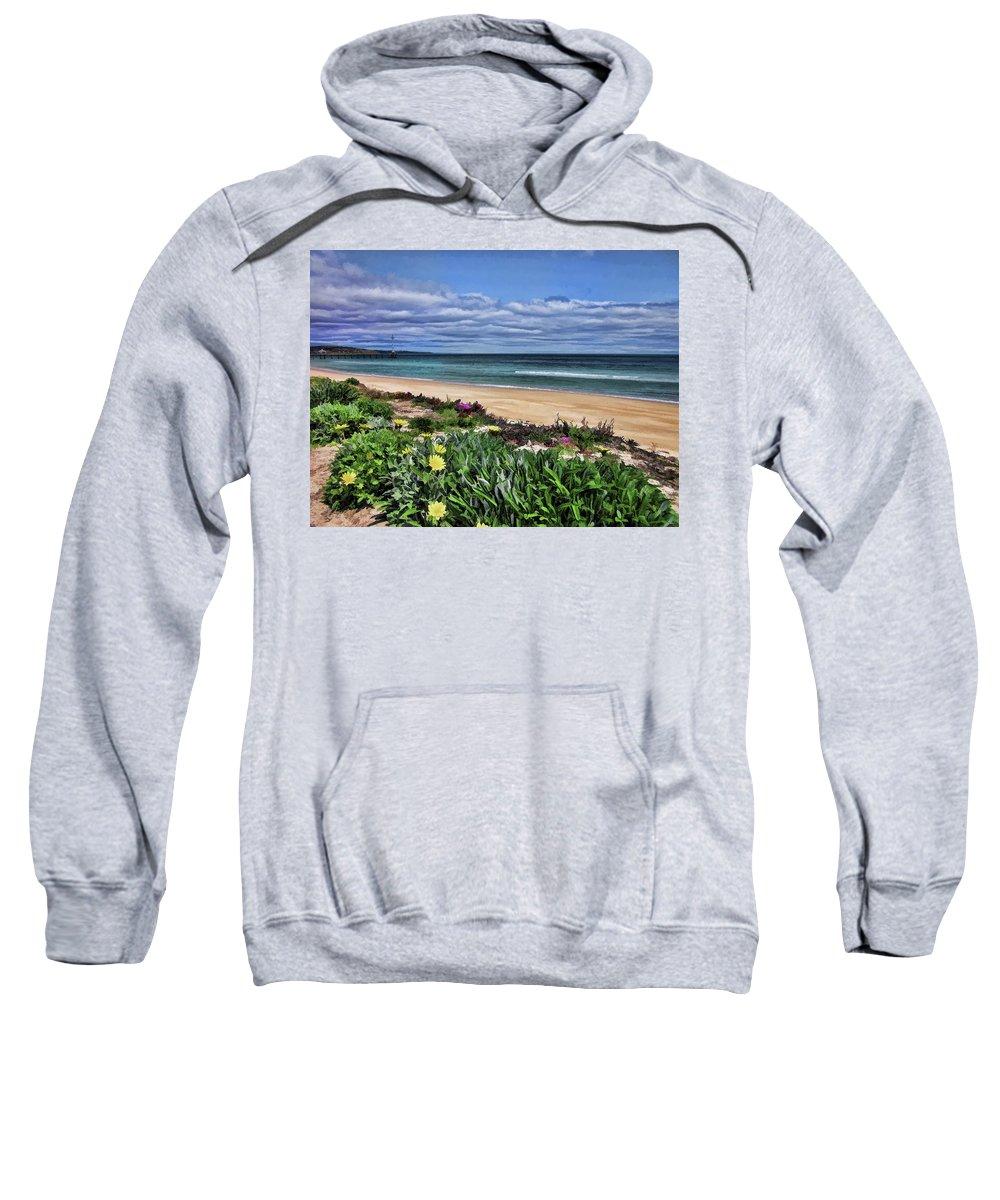 Foreshore Sweatshirt featuring the photograph Wandering Around The Foreshore by Douglas Barnard