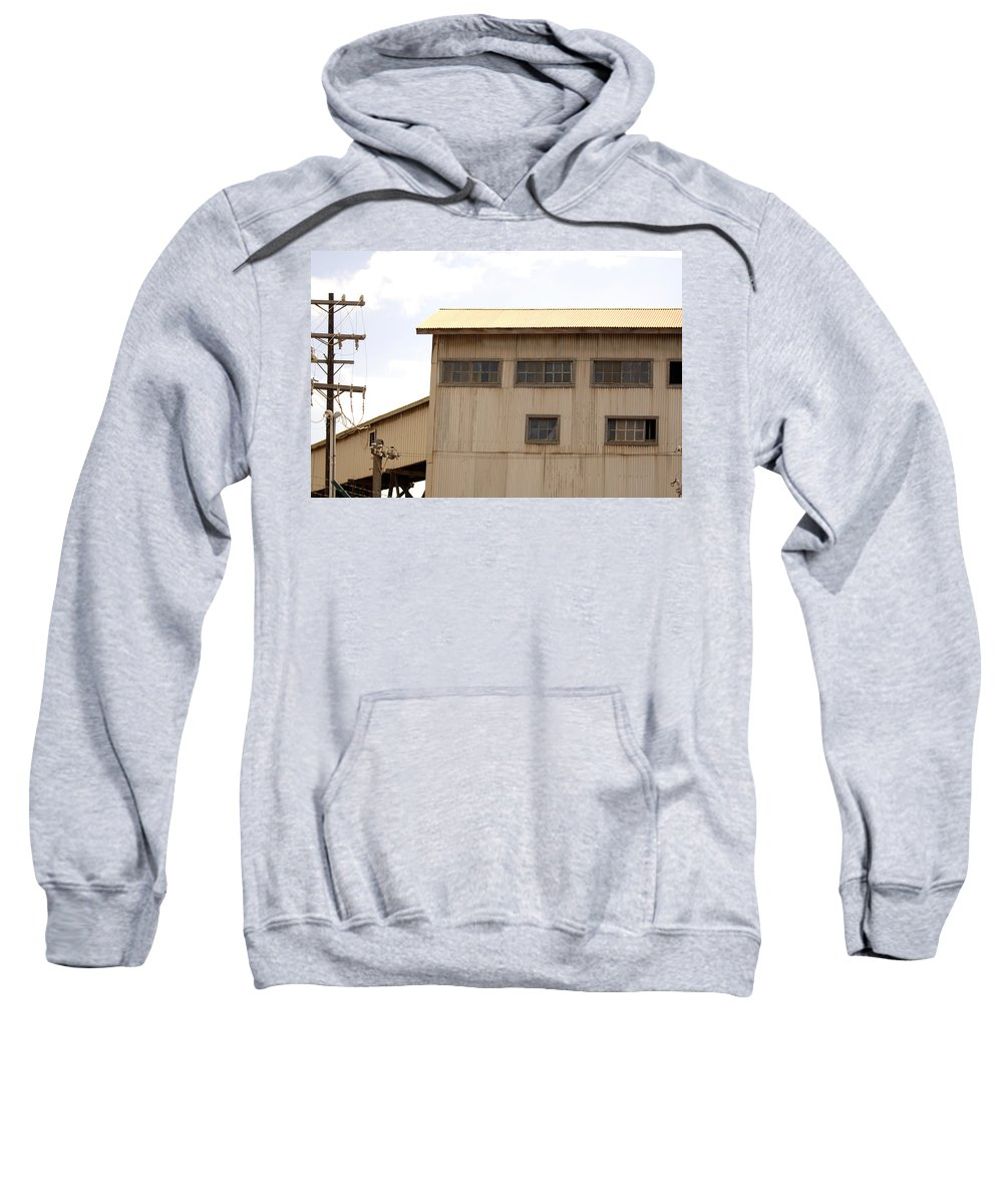 Urban Sweatshirt featuring the photograph Warehouse Hawaii by Jill Reger