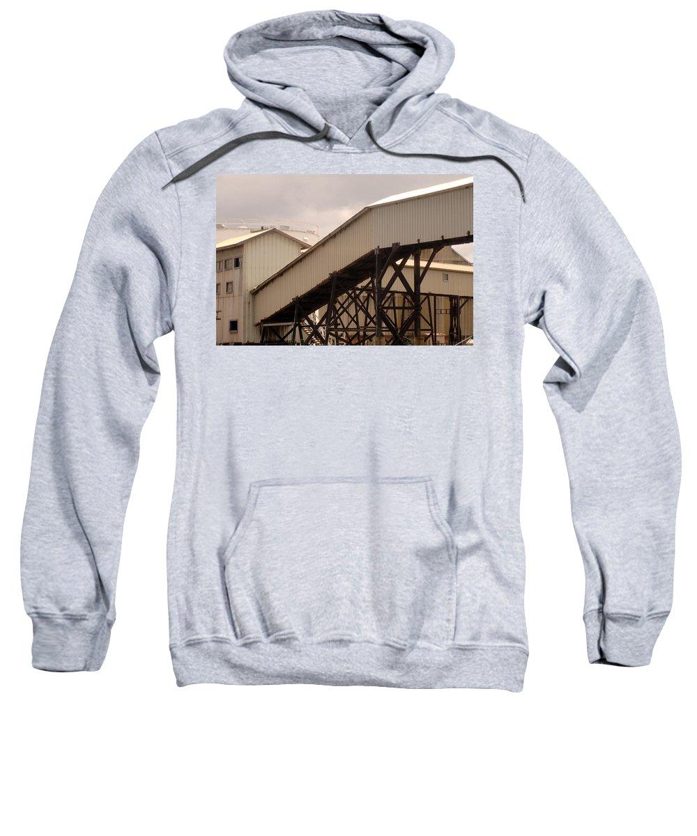 Urban Sweatshirt featuring the photograph Warehouse Passage by Jill Reger
