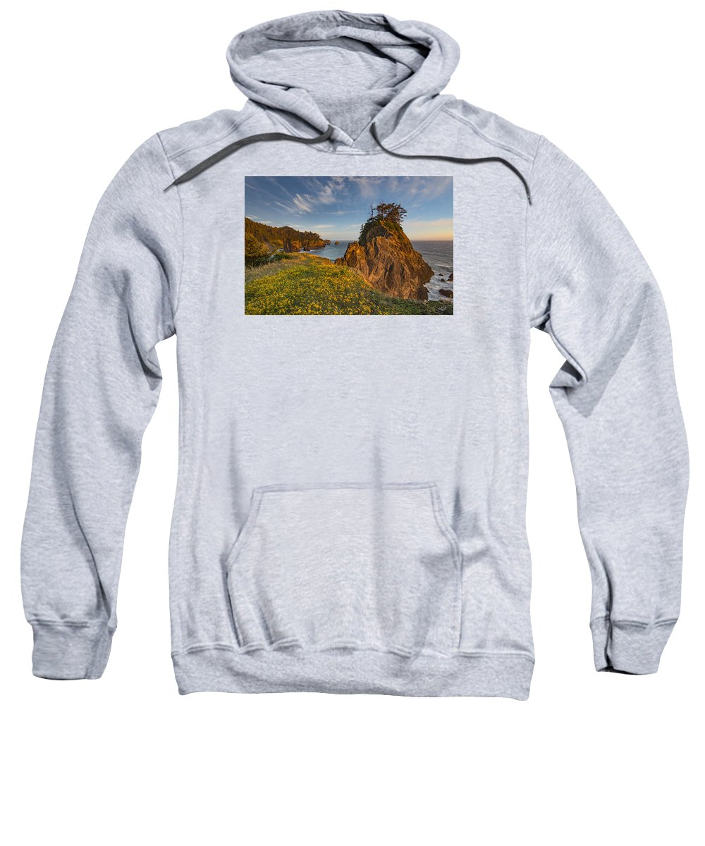 Beautiful Sweatshirt featuring the photograph Warm And Peaceful Coast by Leland D Howard