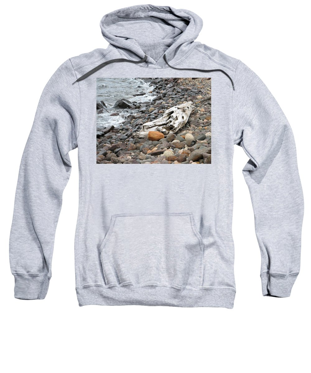 Driftwood Sweatshirt featuring the photograph Washed Up by Kelly Mezzapelle