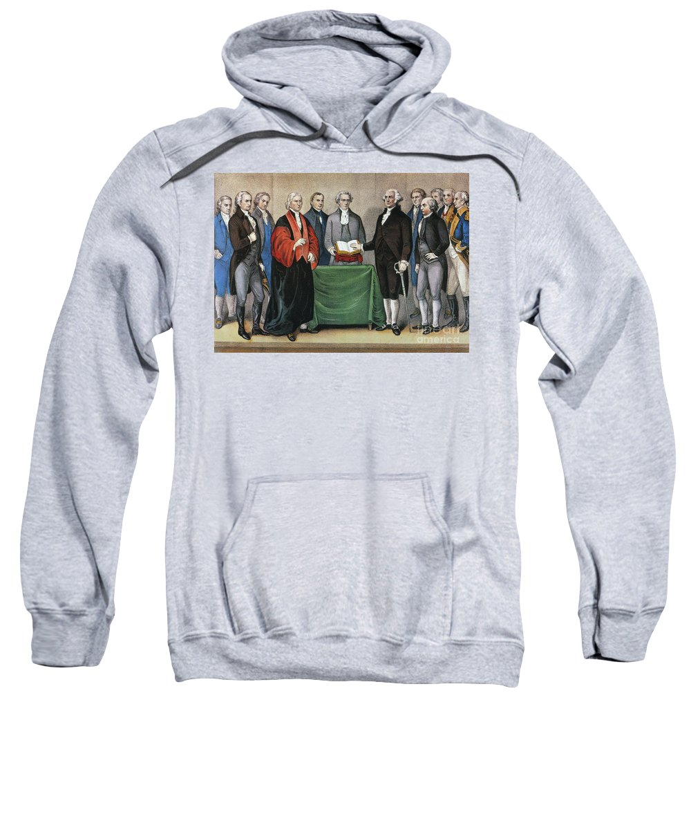 1789 Sweatshirt featuring the photograph Washington: Inauguration by Granger
