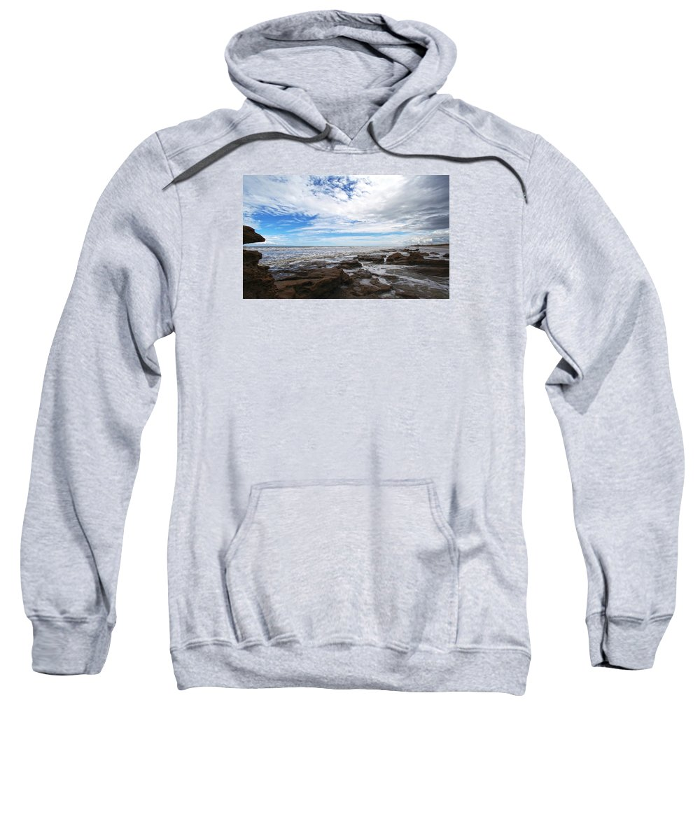 Ocean Sweatshirt featuring the photograph Washington Oaks Garden State Park by Robert Och
