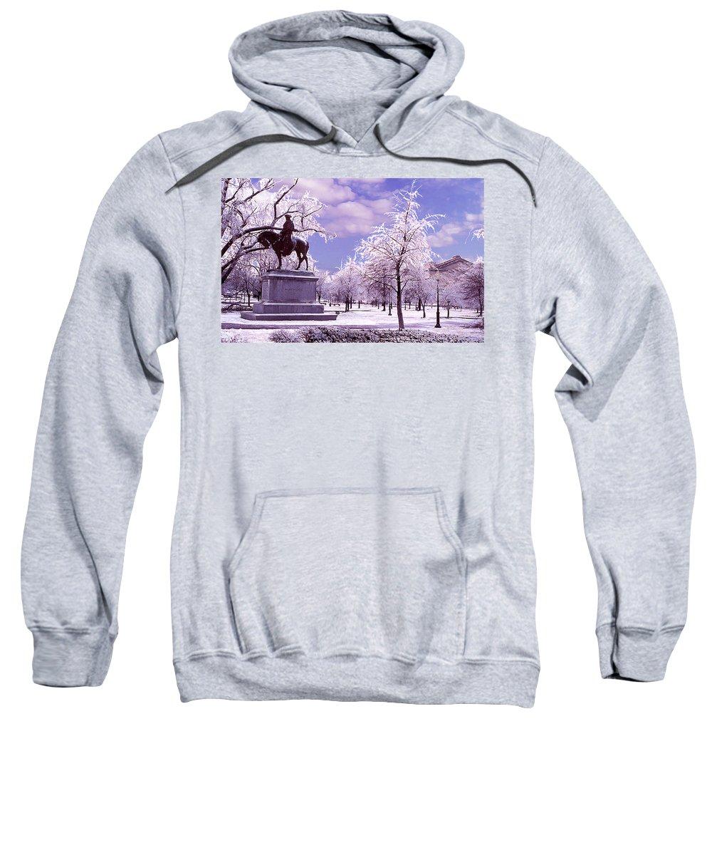 Landscape Sweatshirt featuring the photograph Washington Square Park by Steve Karol