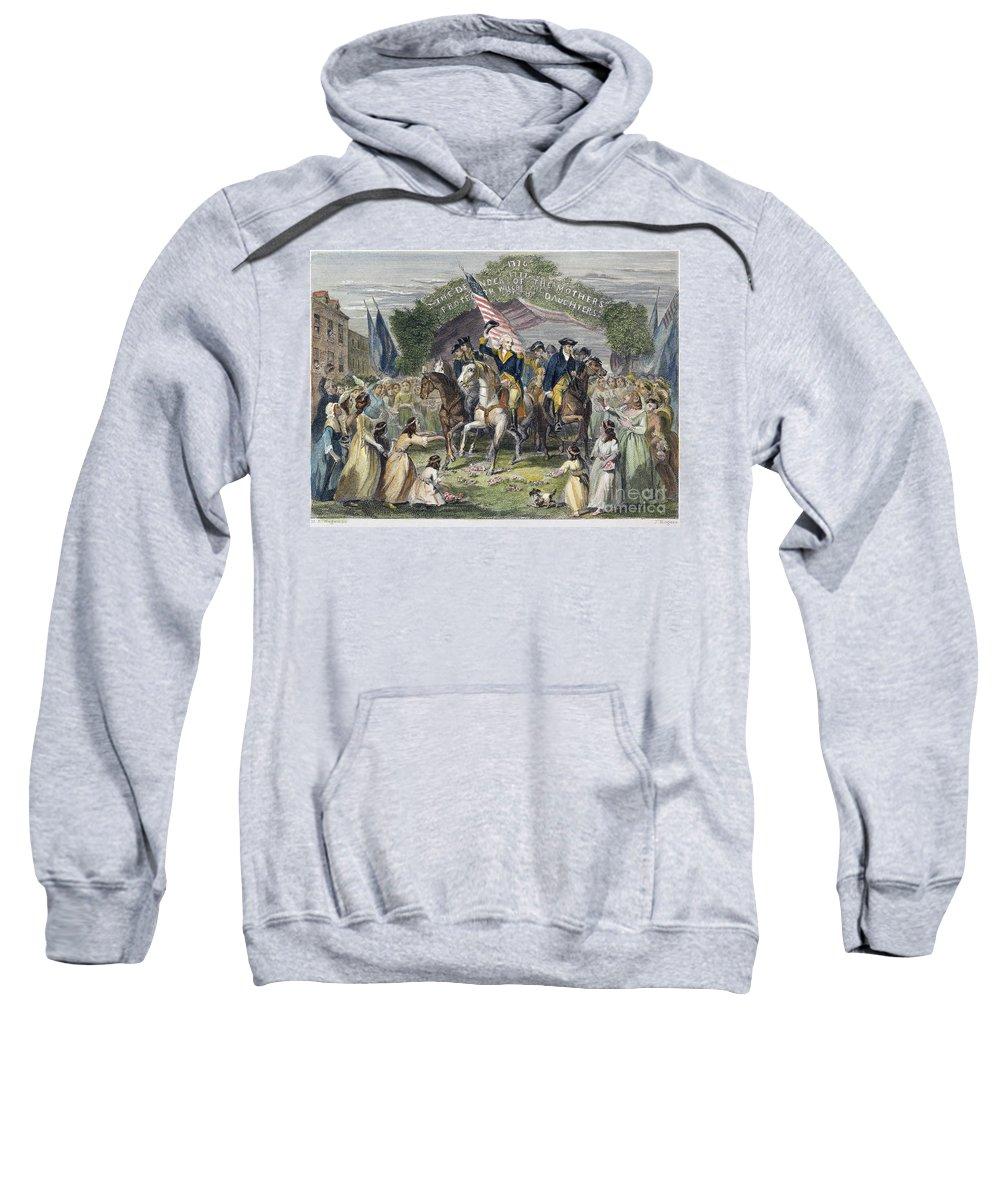 1789 Sweatshirt featuring the photograph Washington: Trenton, 1789 by Granger