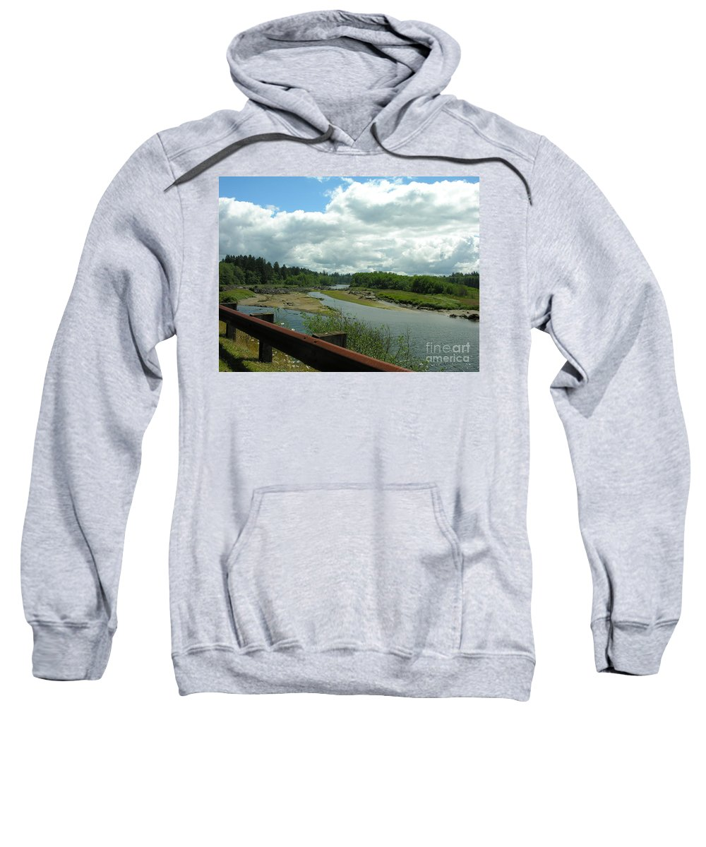 Rail Sweatshirt featuring the photograph Washinton Coast 2 by Diane Greco-Lesser