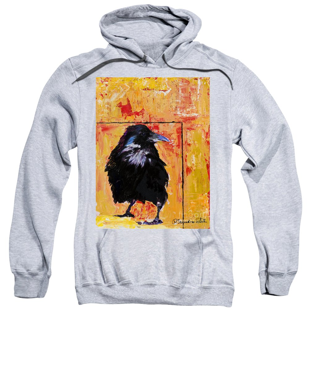 Large Decorative Fine Art Prints Sweatshirt featuring the painting Watch And Learn by Pat Saunders-White