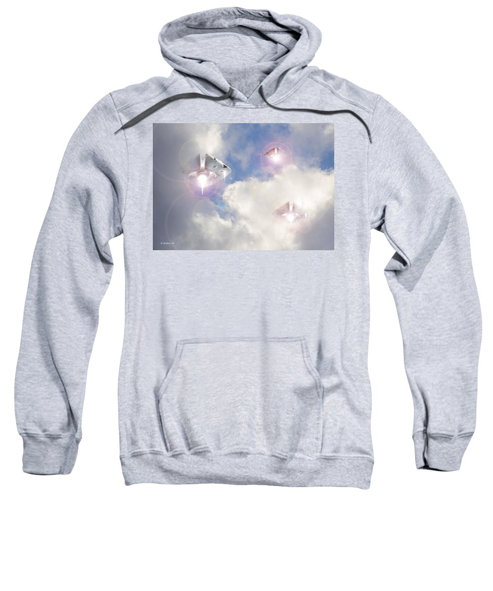 2d Sweatshirt featuring the photograph Watch The Sky by Brian Wallace