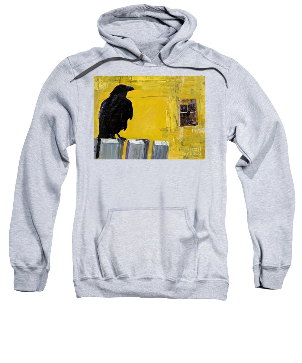 Pat Saunders-white Canvas Prints Sweatshirt featuring the painting Watching by Pat Saunders-White