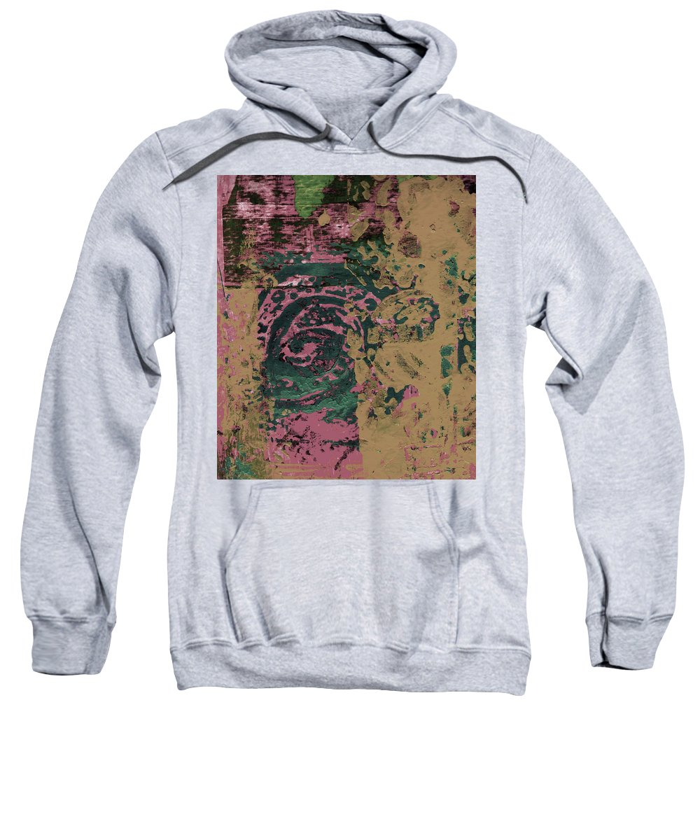Abstract Sweatshirt featuring the painting Watching by Wayne Potrafka