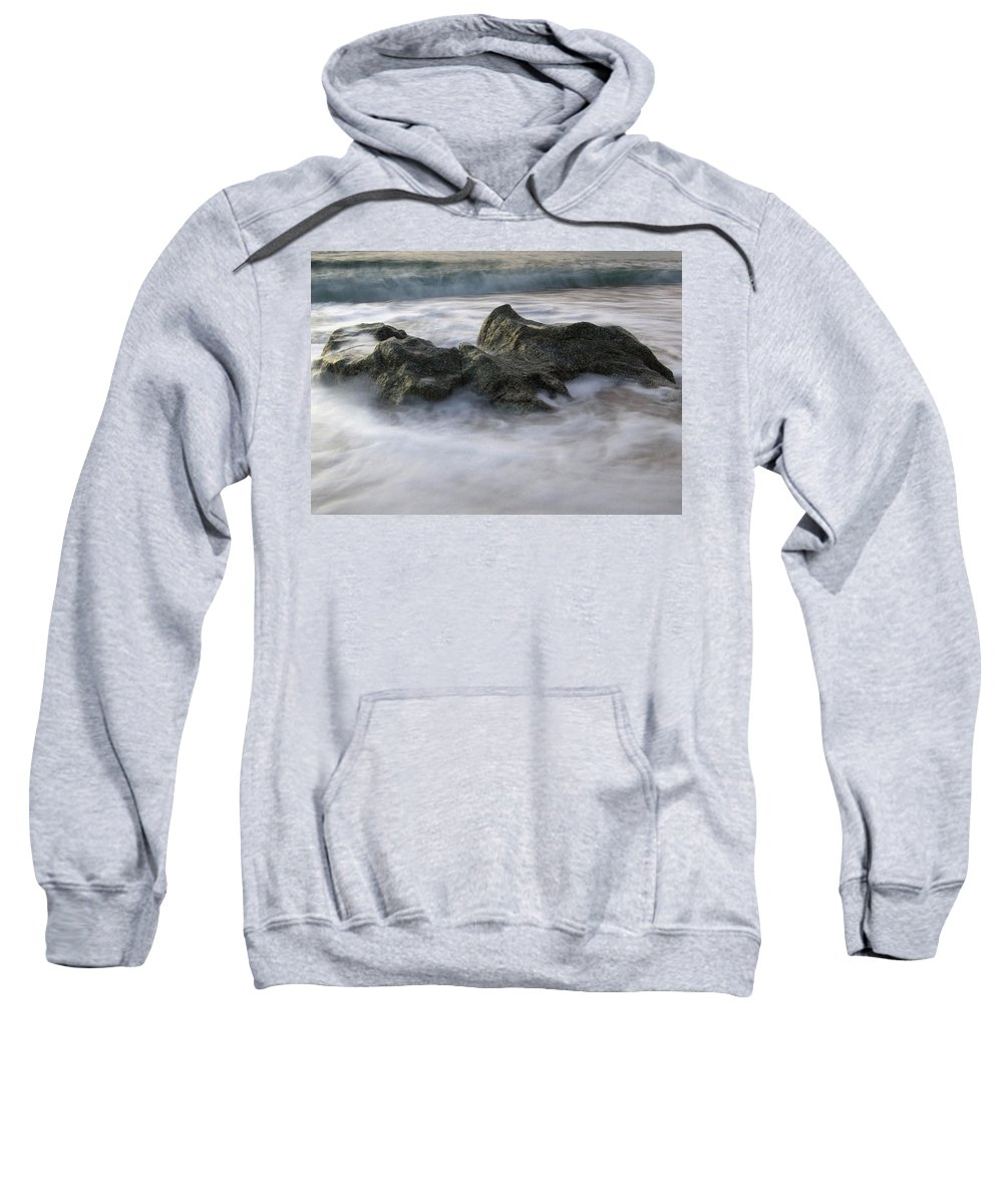 Movement Sweatshirt featuring the photograph Water And Rocks by Cliff Norton