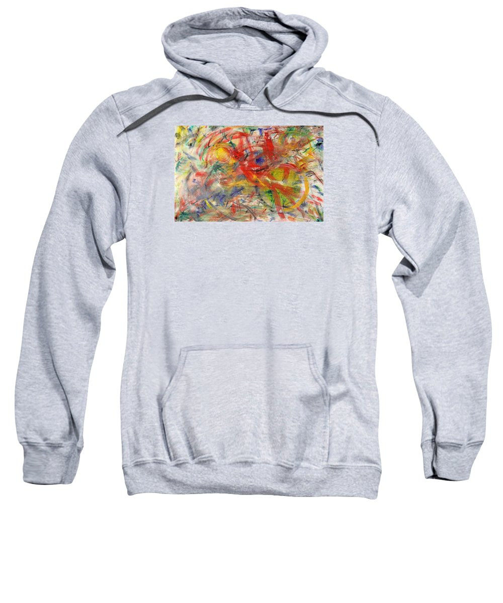 Abstract Sweatshirt featuring the painting Water And Wax by Robert W Dunlap