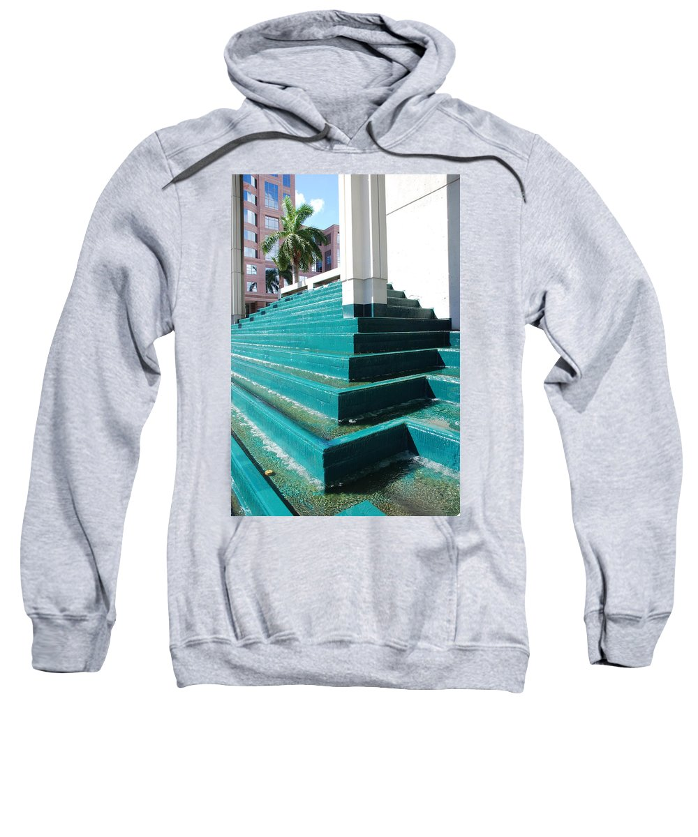 Architecture Sweatshirt featuring the photograph Water At The Federl Courthouse by Rob Hans