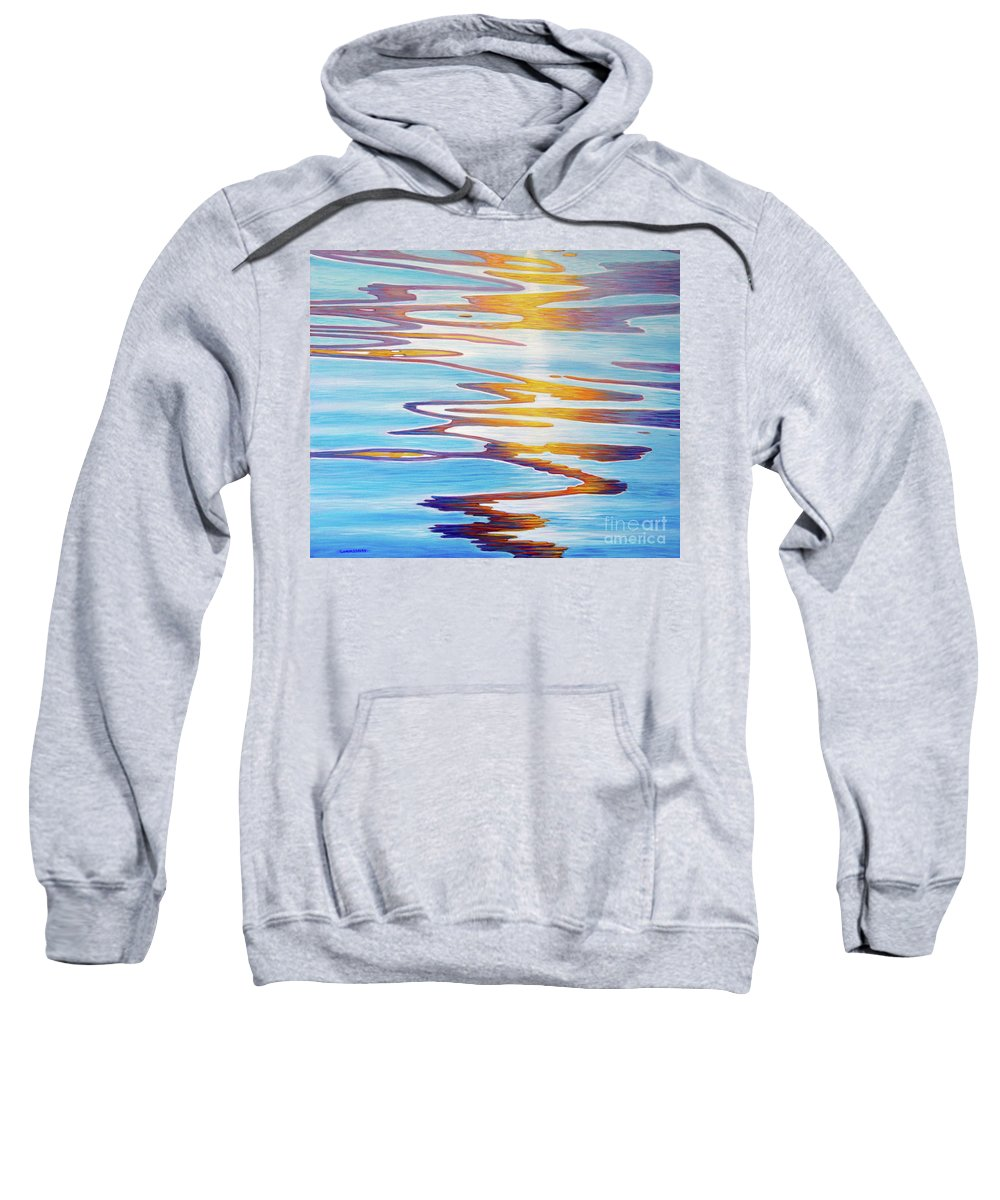 River Sweatshirt featuring the painting Water Dance by Brian Commerford