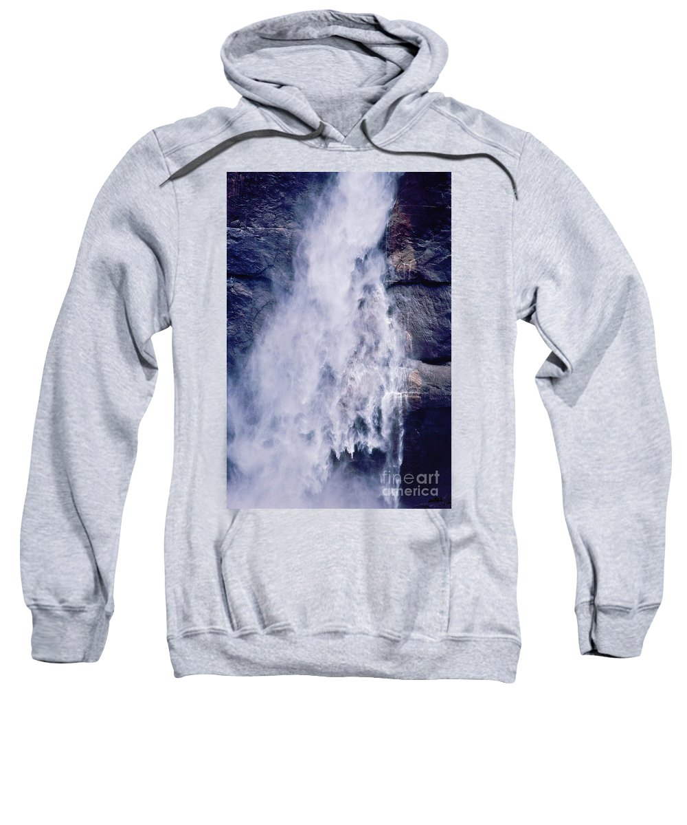 Waterfall Sweatshirt featuring the photograph Water Drops by Kathy McClure