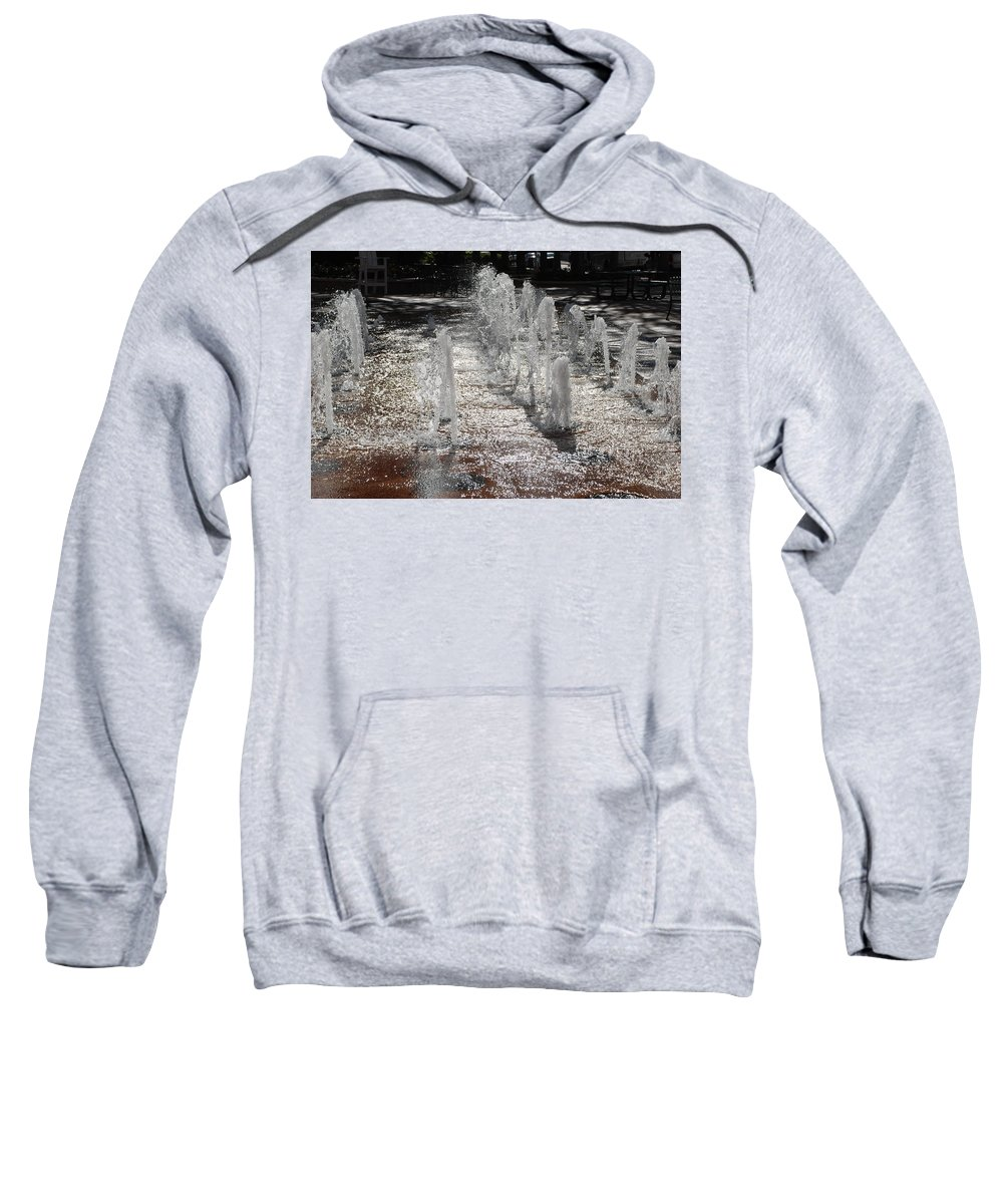 Water Sweatshirt featuring the photograph Water Fountain by Rob Hans