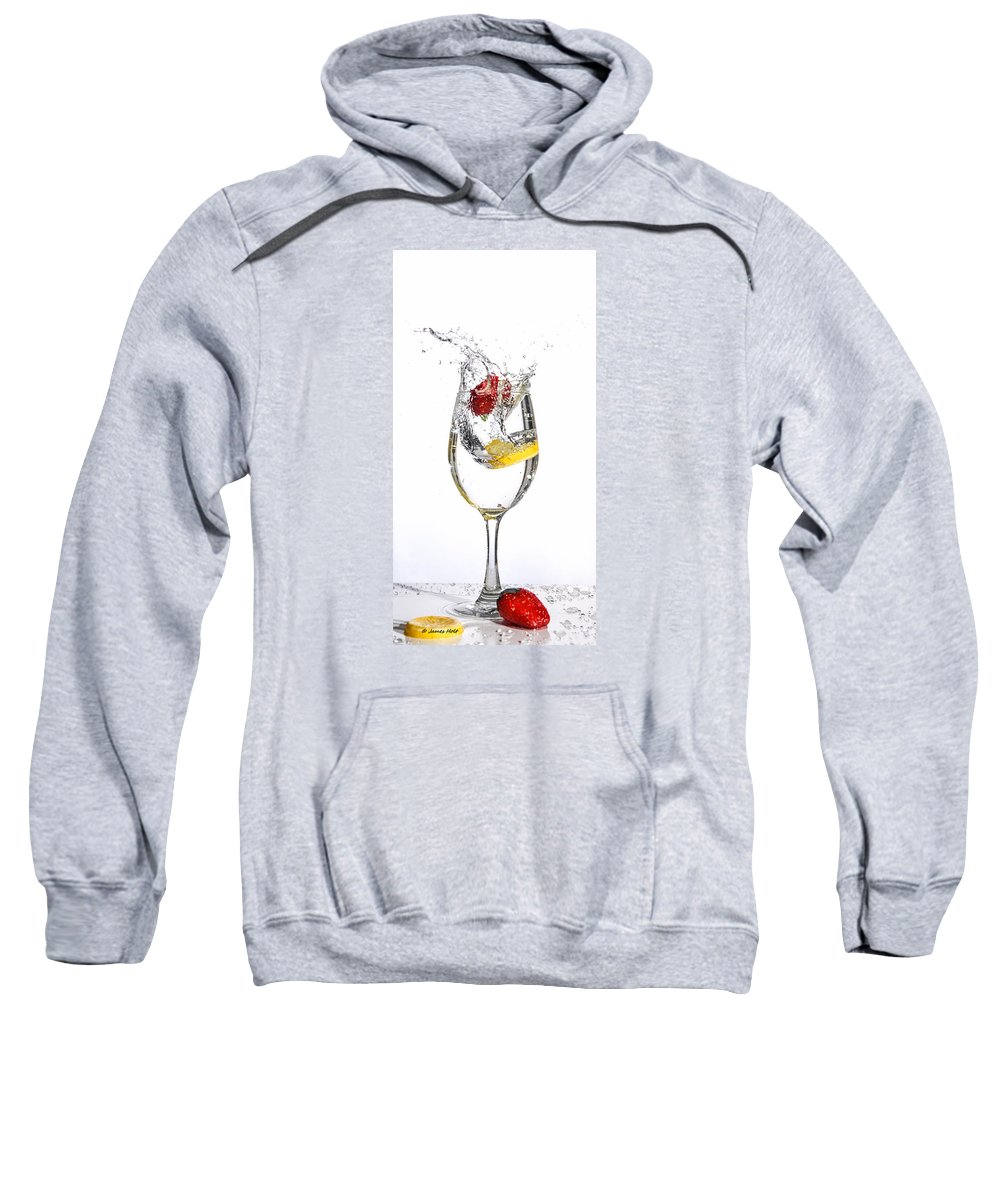 Splash Sweatshirt featuring the photograph Water Glass3 by James Holt