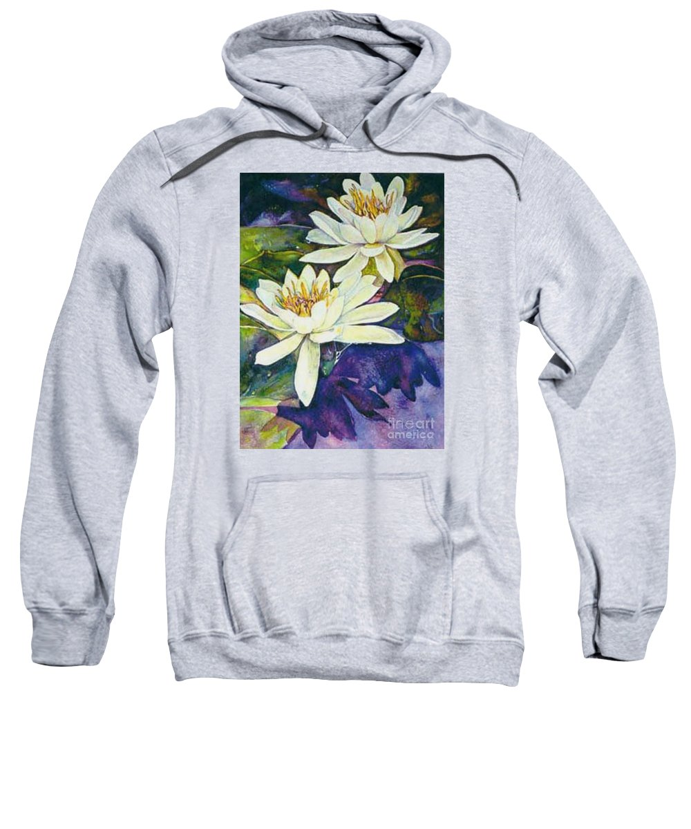 Flower Sweatshirt featuring the painting Water Lilies by Norma Boeckler