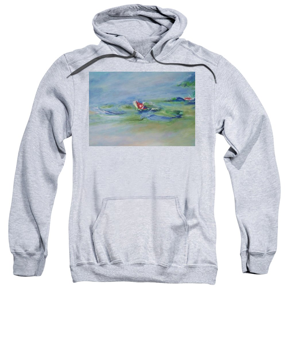 Floral Sweatshirt featuring the painting Water Lily by Eric Schiabor