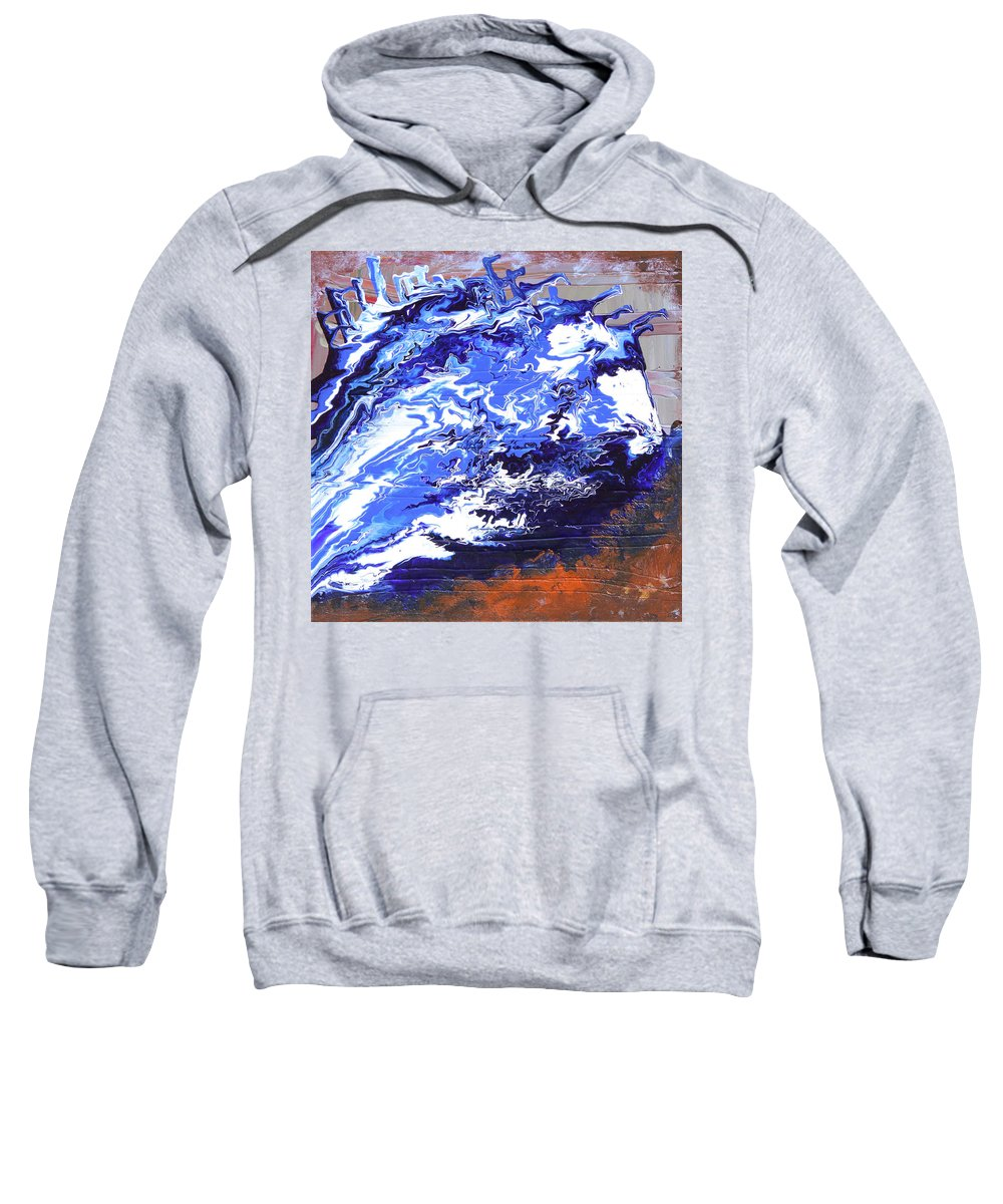 Fusionart Sweatshirt featuring the painting Water by Ralph White