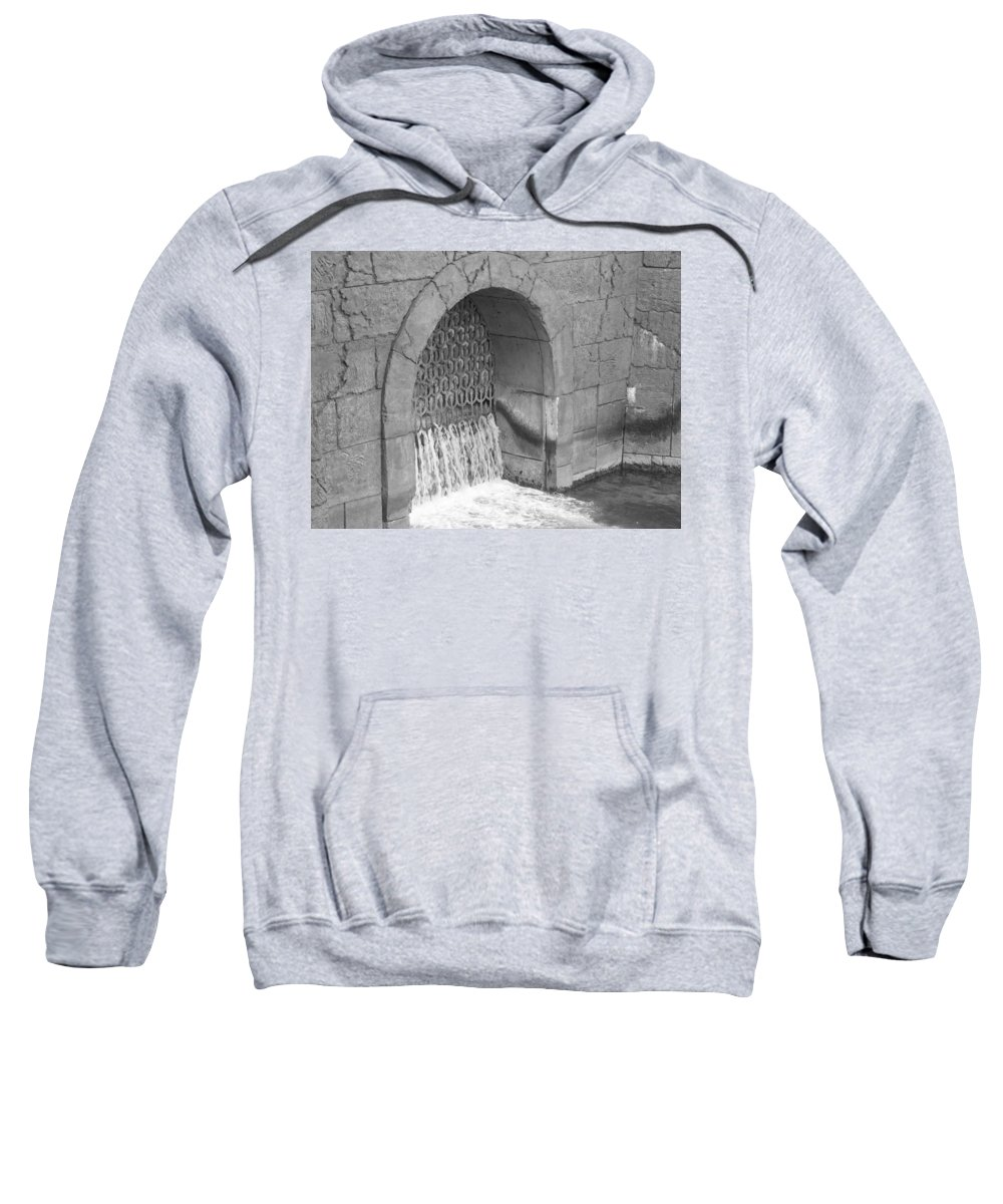 Waterfall Sweatshirt featuring the photograph Water Stone by Michelle Powell