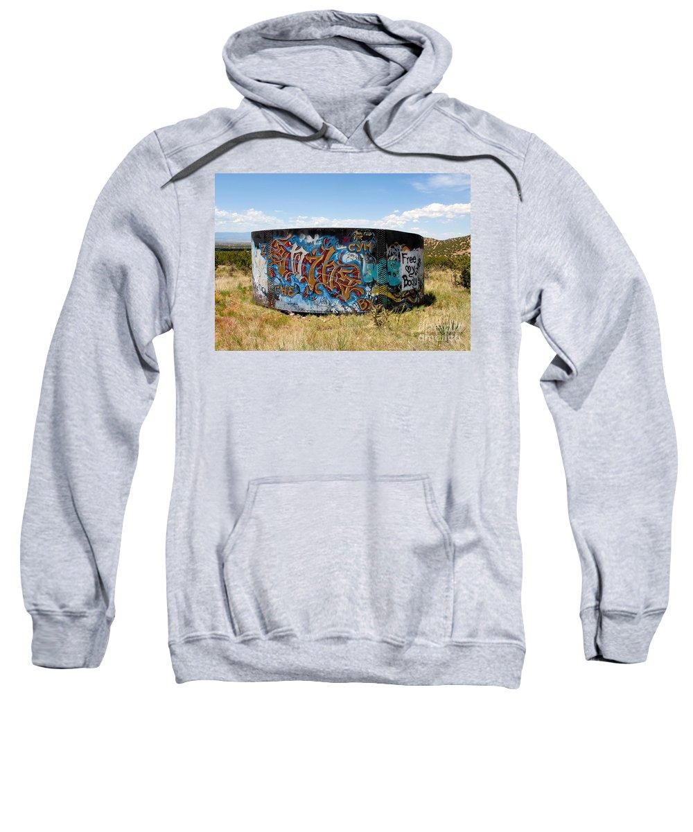 Graffiti Sweatshirt featuring the photograph Water Tank Graffiti by David Lee Thompson