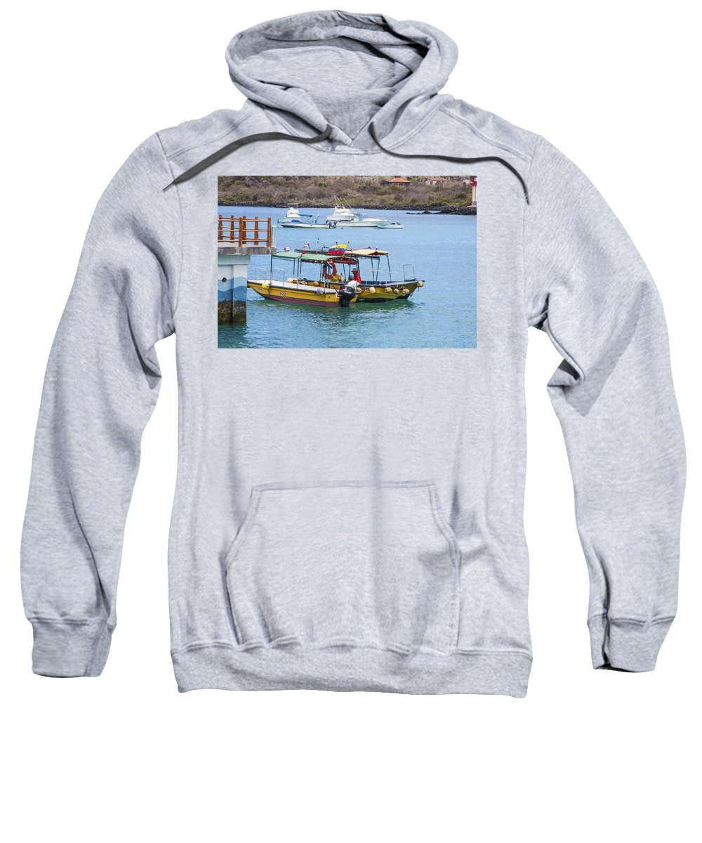 Water Taxis Sweatshirt featuring the photograph Water Taxis Waiting by Sally Weigand
