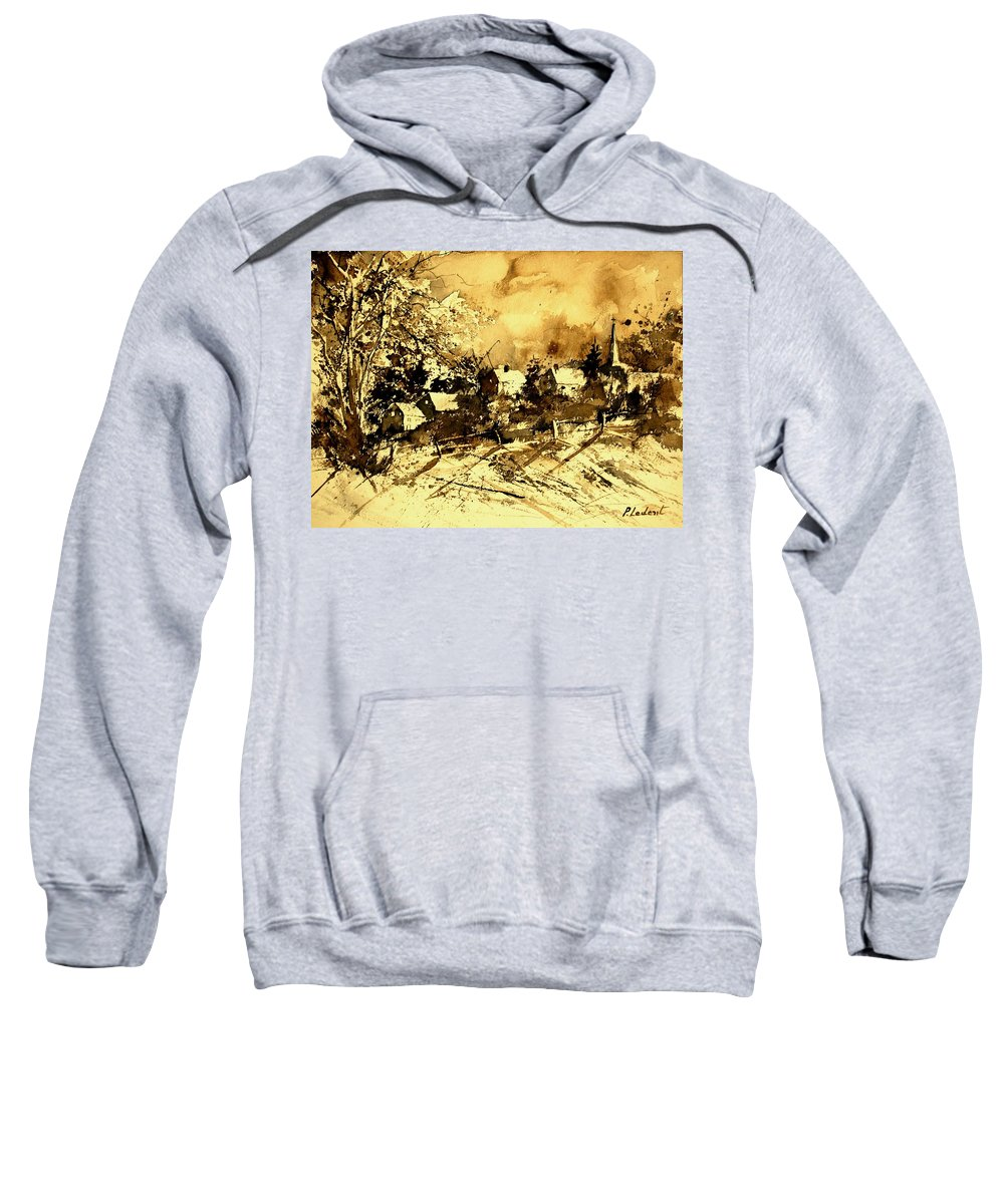 Sweatshirt featuring the painting Watercolor 01 by Pol Ledent