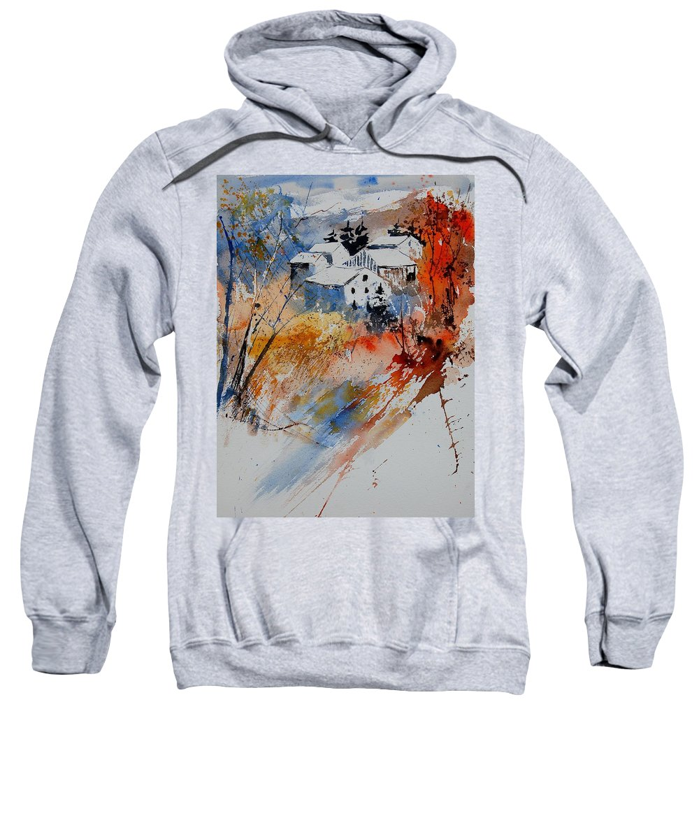 Landscape Sweatshirt featuring the painting Watercolor 011012 by Pol Ledent