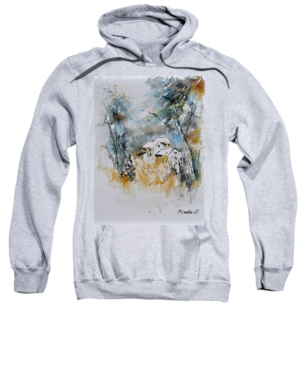 Landscape Sweatshirt featuring the painting Watercolor 015060 by Pol Ledent
