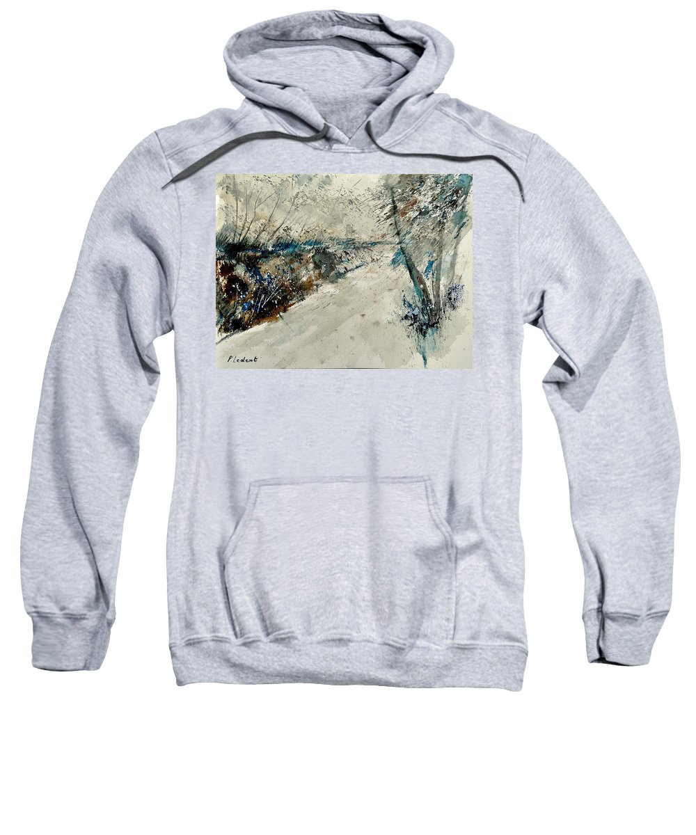Landcape Sweatshirt featuring the painting Watercolor 018001 by Pol Ledent