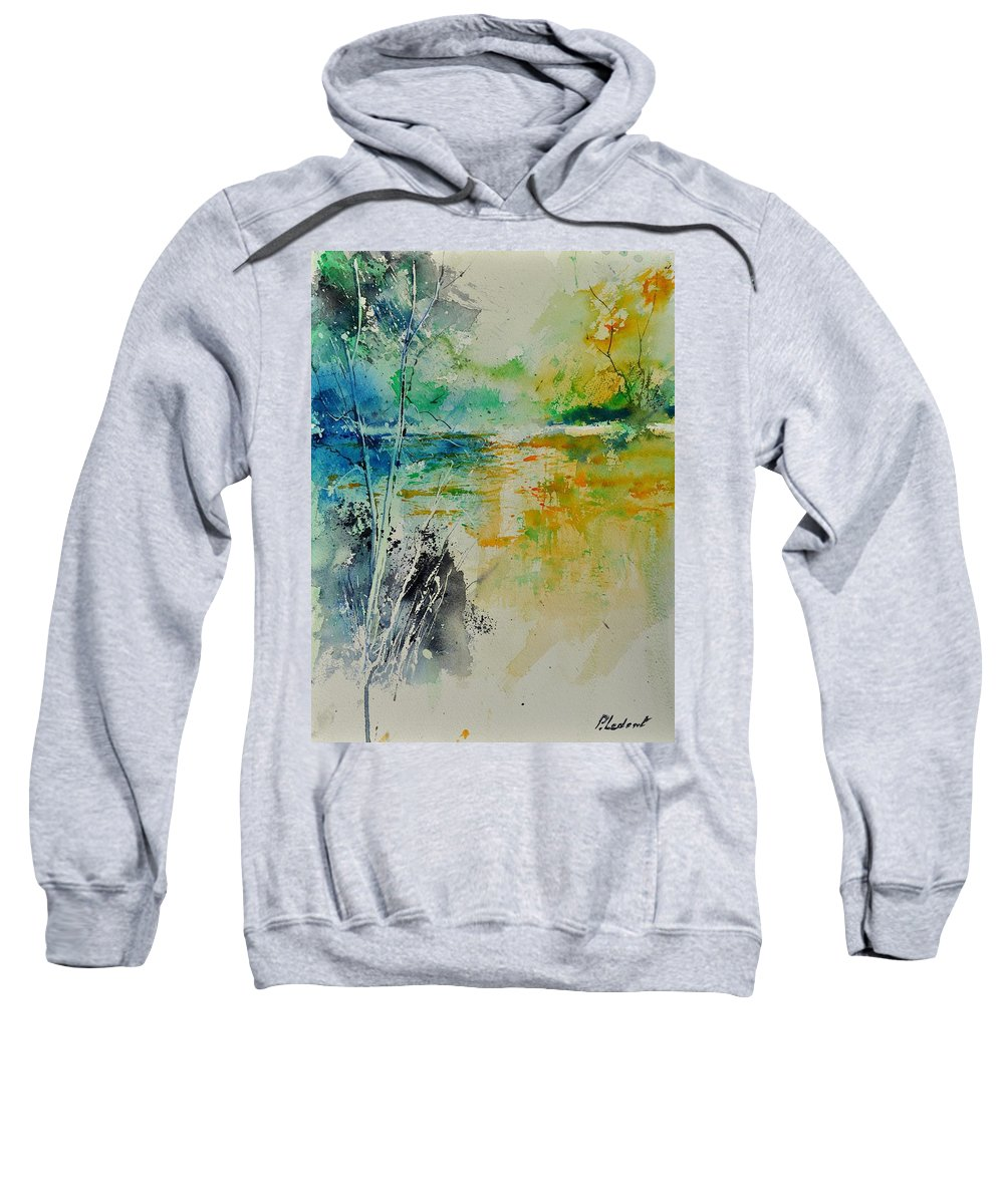 Pond Sweatshirt featuring the painting Watercolor 018080 by Pol Ledent