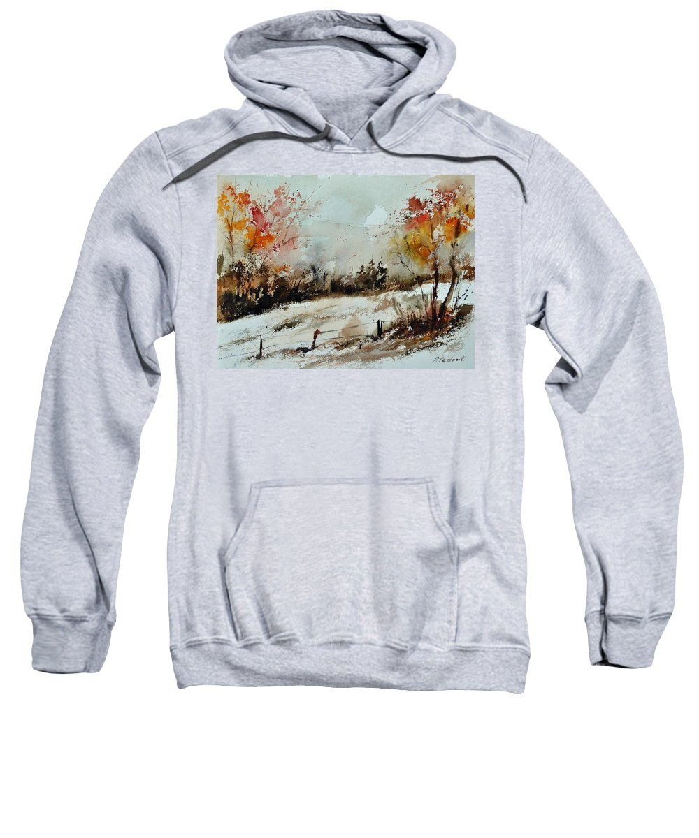 Sweatshirt featuring the painting Watercolor 018090 by Pol Ledent