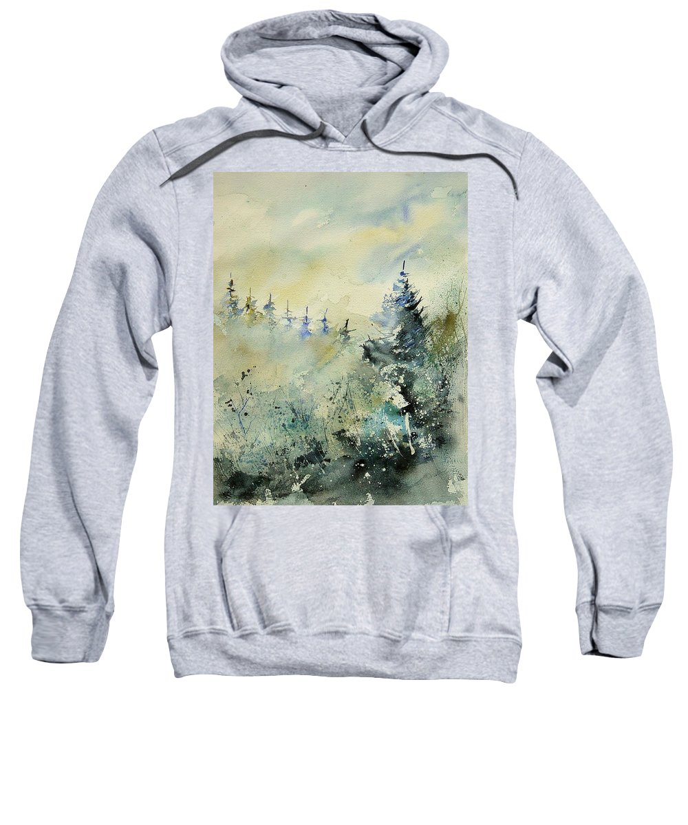 Winter Sweatshirt featuring the painting Watercolor 020307 by Pol Ledent